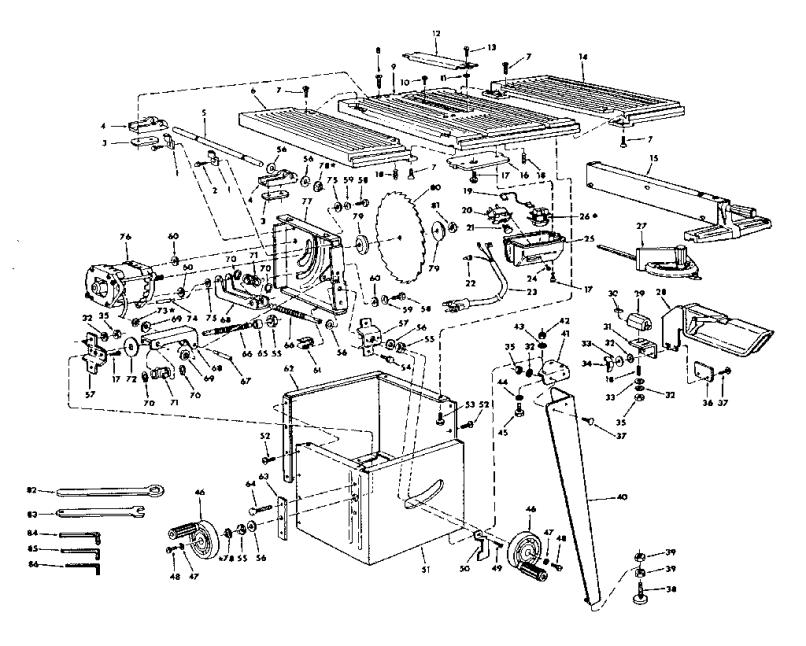 Kobalt Miter Saw Parts List