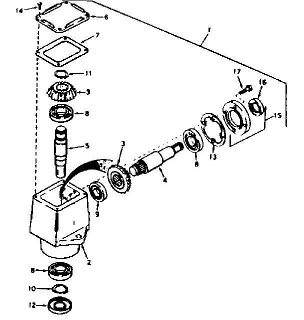 PEERLESS RIGHT ANGLE DRIVE--MODEL NO. 143.3187-P91 Diagram