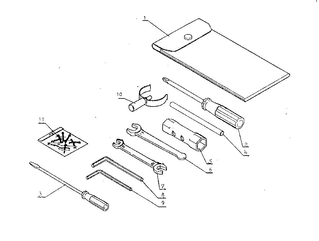 TOOLS Diagram & Parts List for Model srm302aox Kioritz