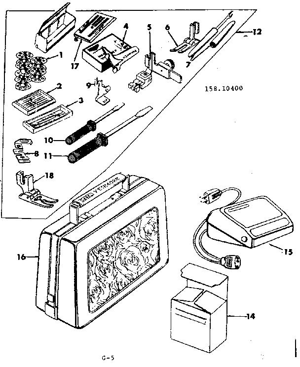 ATTACHMENT PARTS Diagram & Parts List for Model 15810400