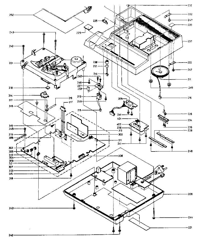 BASE ASSEMBLY Diagram & Parts List for Model IQ2846 Phone