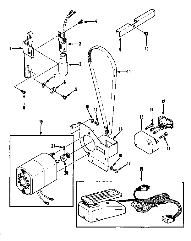 MOTOR ASSEMBLY Diagram & Parts List for Model 1581010180