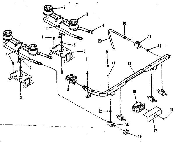 Wiring Diagram Database: Kenmore Gas Range Parts Diagram