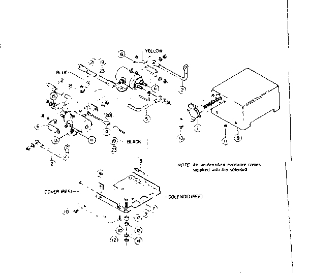 SOLENOID ASSEMBLY PARTS Diagram & Parts List for Model