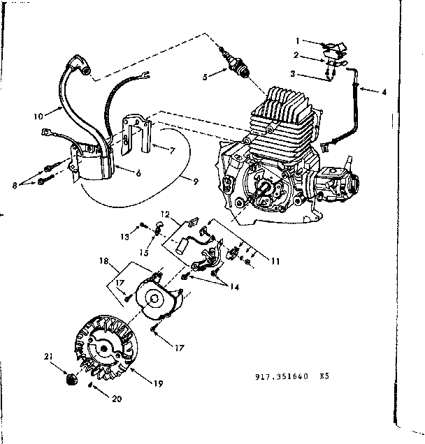 STARTER ASSEMBLY Diagram & Parts List for Model 917351640