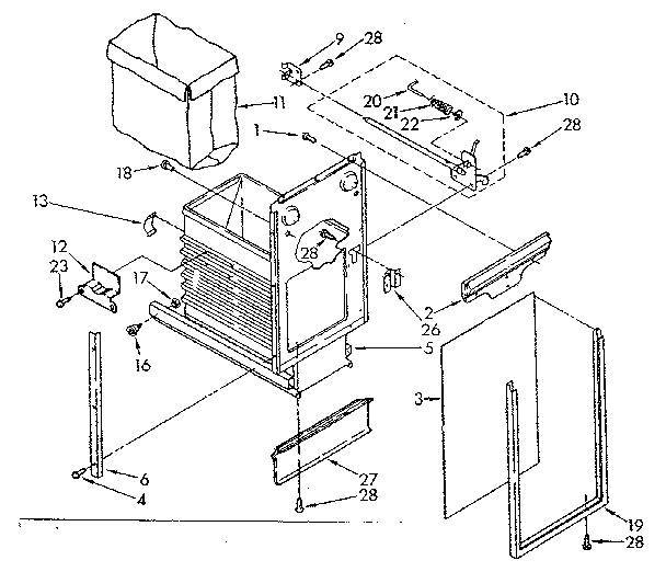 CONTAINER PARTS Diagram & Parts List for Model 6651336581