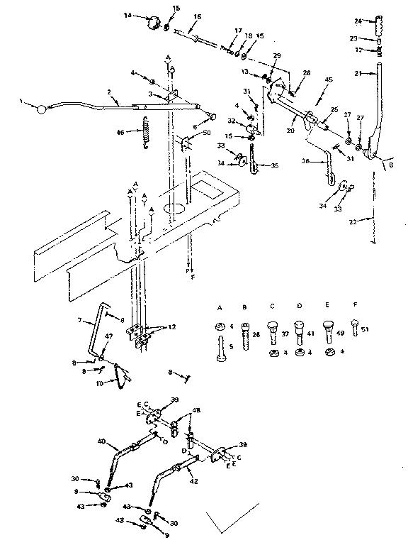 LIFT ADJUSTMENT Diagram & Parts List for Model 917255822