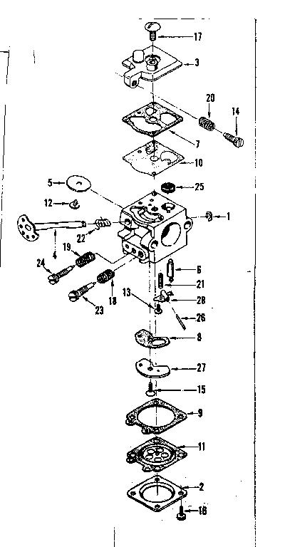 CRAFTSMAN Sears Chain Saw Carburetor no. 35002 Parts