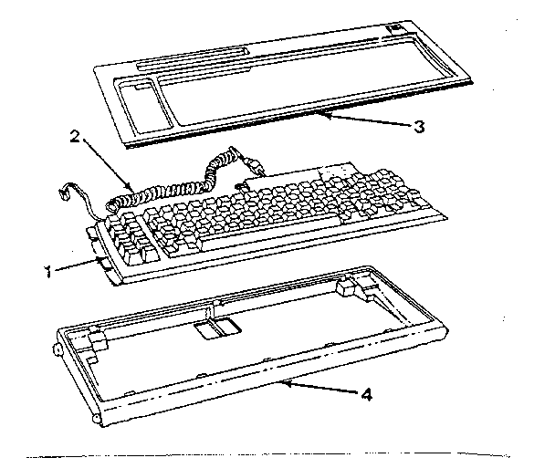 KEYBOARD (83-KEY FOR 5155) Diagram & Parts List for Model