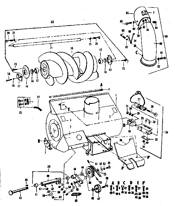 Snowblower Auger Repair Free Engine Image For Sketch