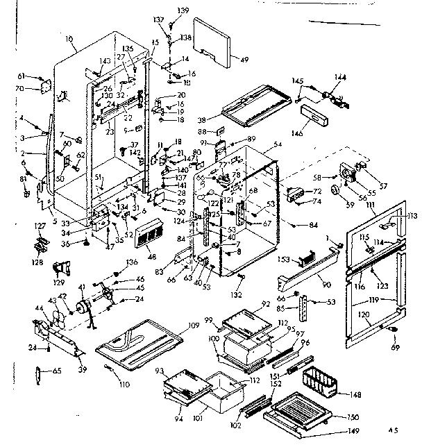 KENMORE COLDSPOT REFRIGERATOR 16.5 CUBIC FEET Parts