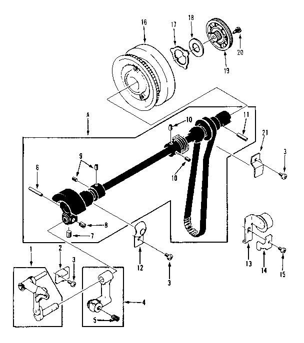TAKE UP LEVER ASSEMBLY Diagram & Parts List for Model