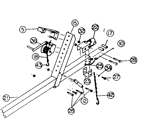 WINCH ASSEMBLY Diagram & Parts List for Model 371619960