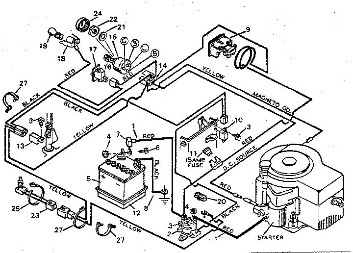 DIAGRAM FOR CRAFTSMAN LAWN MOWER DECK