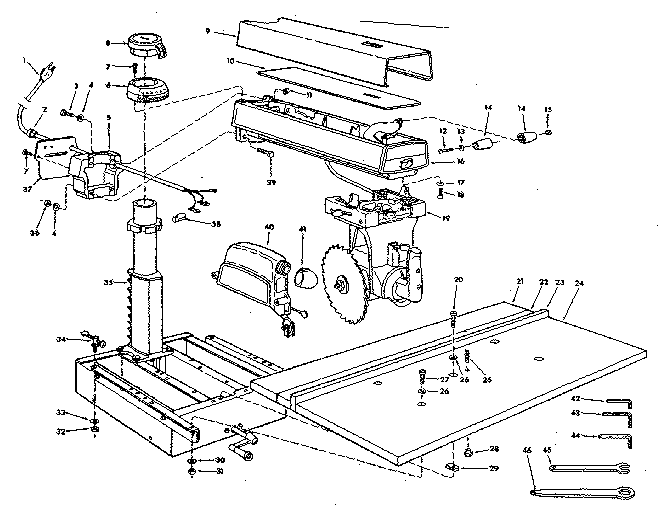 Radial Arm Saw Table Dimensions