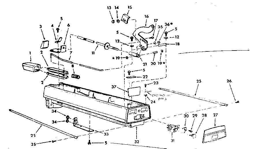 ARM ASSEMBLY Diagram & Parts List for Model 113197751