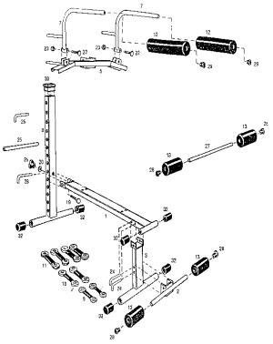 STAMINA 1000 MINI GYM Parts   Model GYM1000   Sears