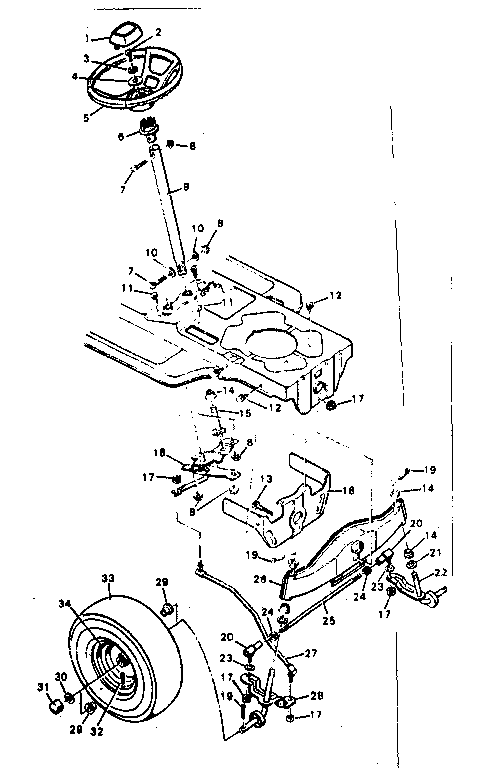 STEERING SYSTEM Diagram & Parts List for Model 502254260