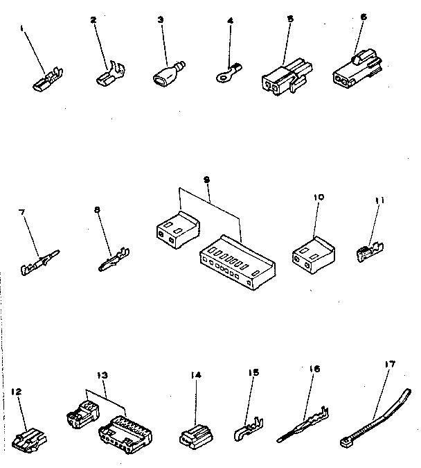 CONNECTORS AND TERMINALS Diagram & Parts List for Model