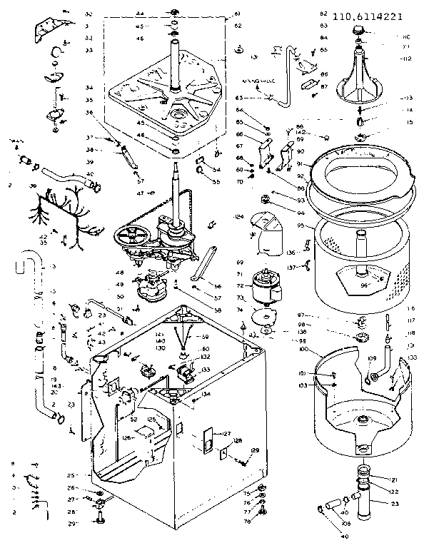 Washer Parts: Parts Diagram For Kenmore Washer