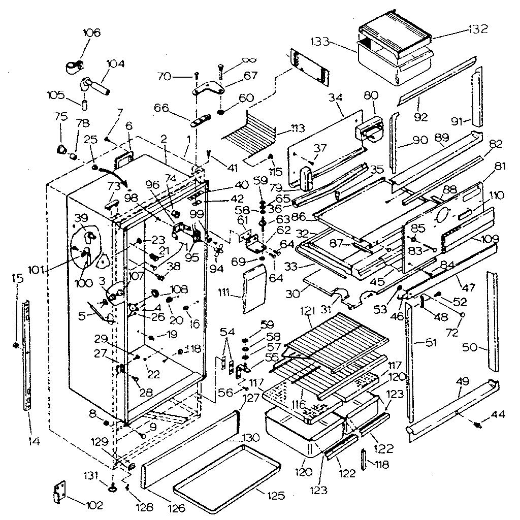 kenmore 106 refrigerator parts diagram wiring for honeywell thermostat th3110d1008 sear coldspot fisher paylel icemaker motor repair hight resolution of model sevenstonesinc com sears