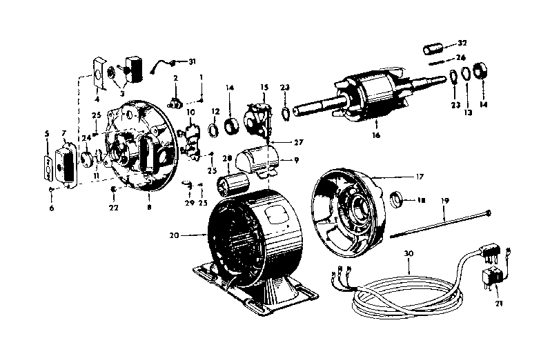 Dayton Electric Motor Parts Diagram
