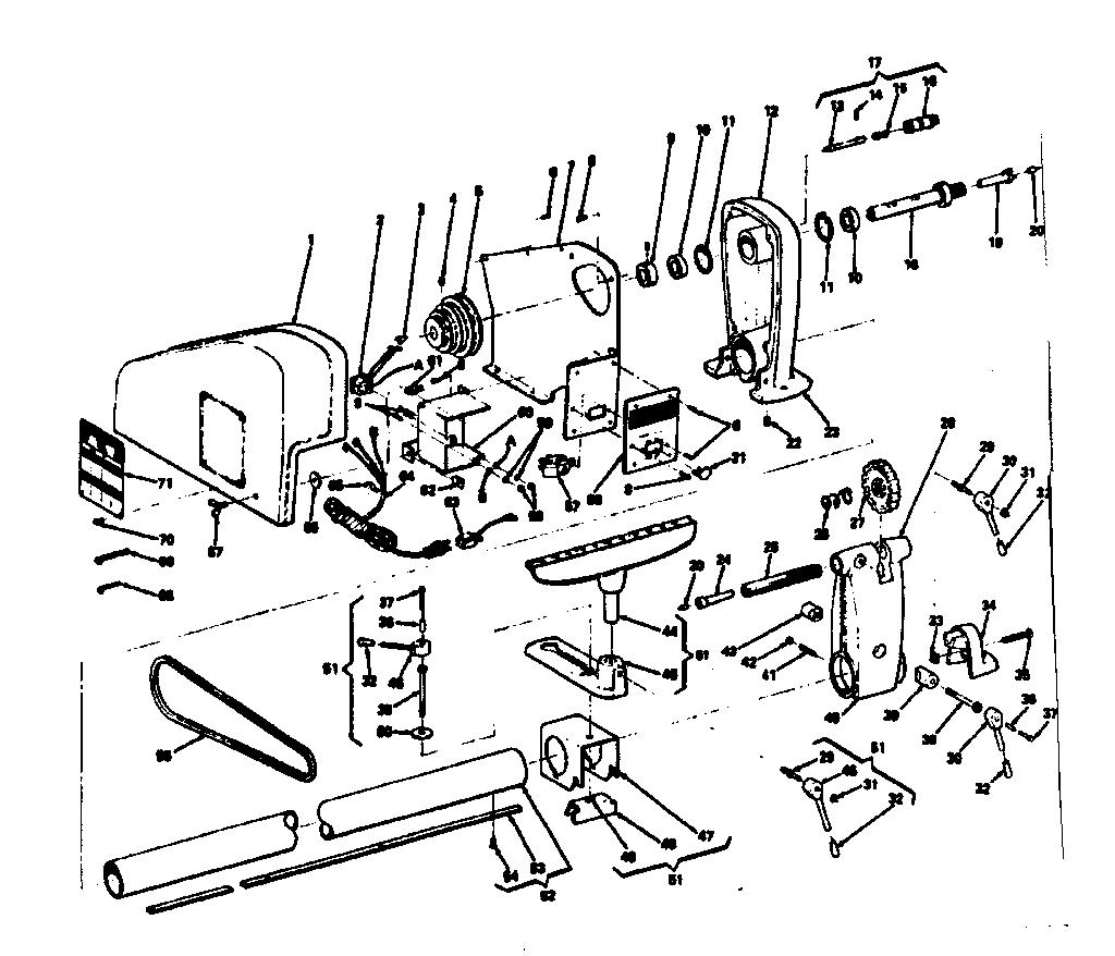 CRAFTSMAN SEARS CRAFTSMAN 12-INCH WOOD-TURNING LATHE Parts