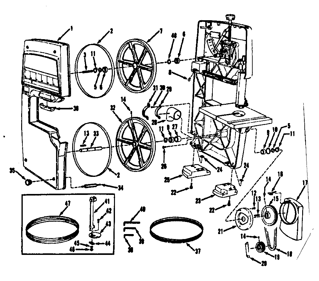 Craftsman 9 Band Saw Parts