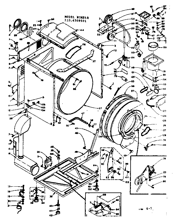 BASE AND TANK ASSEMBLY Diagram & Parts List for Model