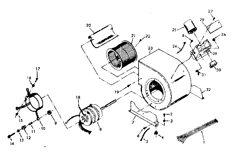 BLOWER Diagram & Parts List for Model 867767842 Kenmore