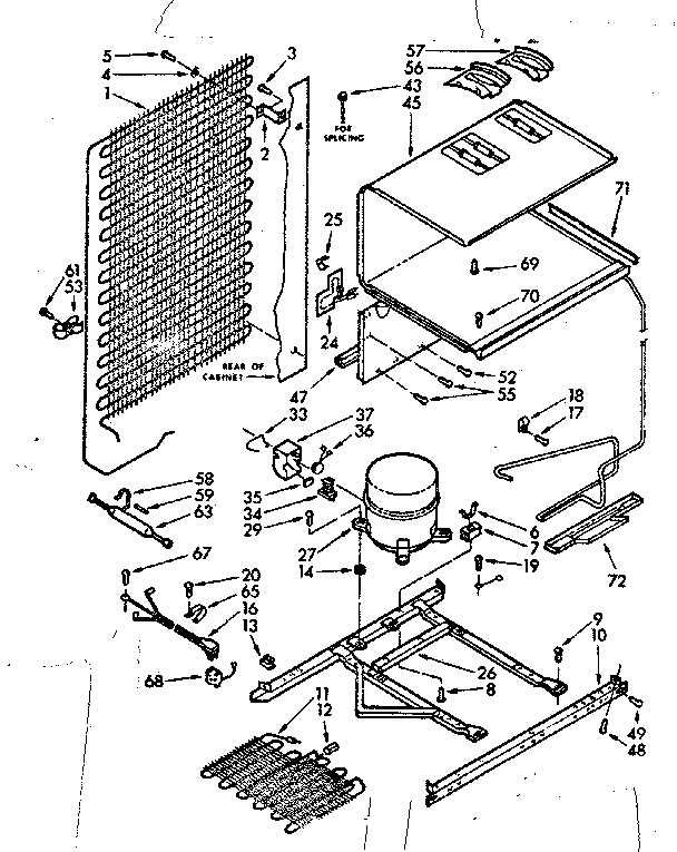 Kenmore 106 Refrigerator Parts Diagram Within Diagram