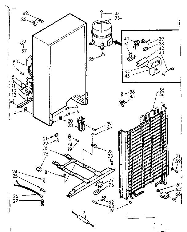 KENMORE Coldspot Freezer 15.3 Cubic Feet Unit Parts