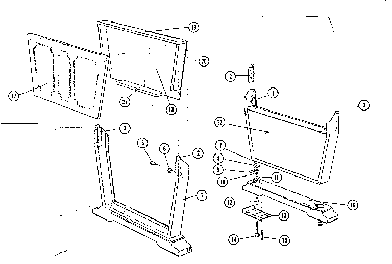 LEG ASSEMBLY Diagram & Parts List for Model 21125169 Sears
