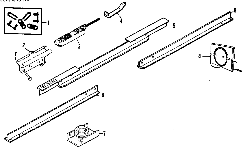 RAIL ASSEMBLY Diagram & Parts List for Model 13953613