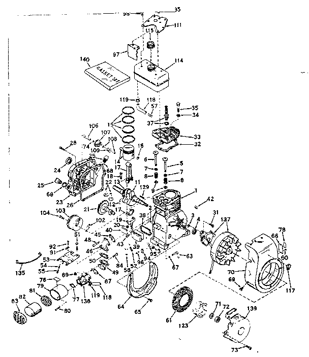 Cycle Engine Diagram And Parts List For Tecumseh Allproductsparts
