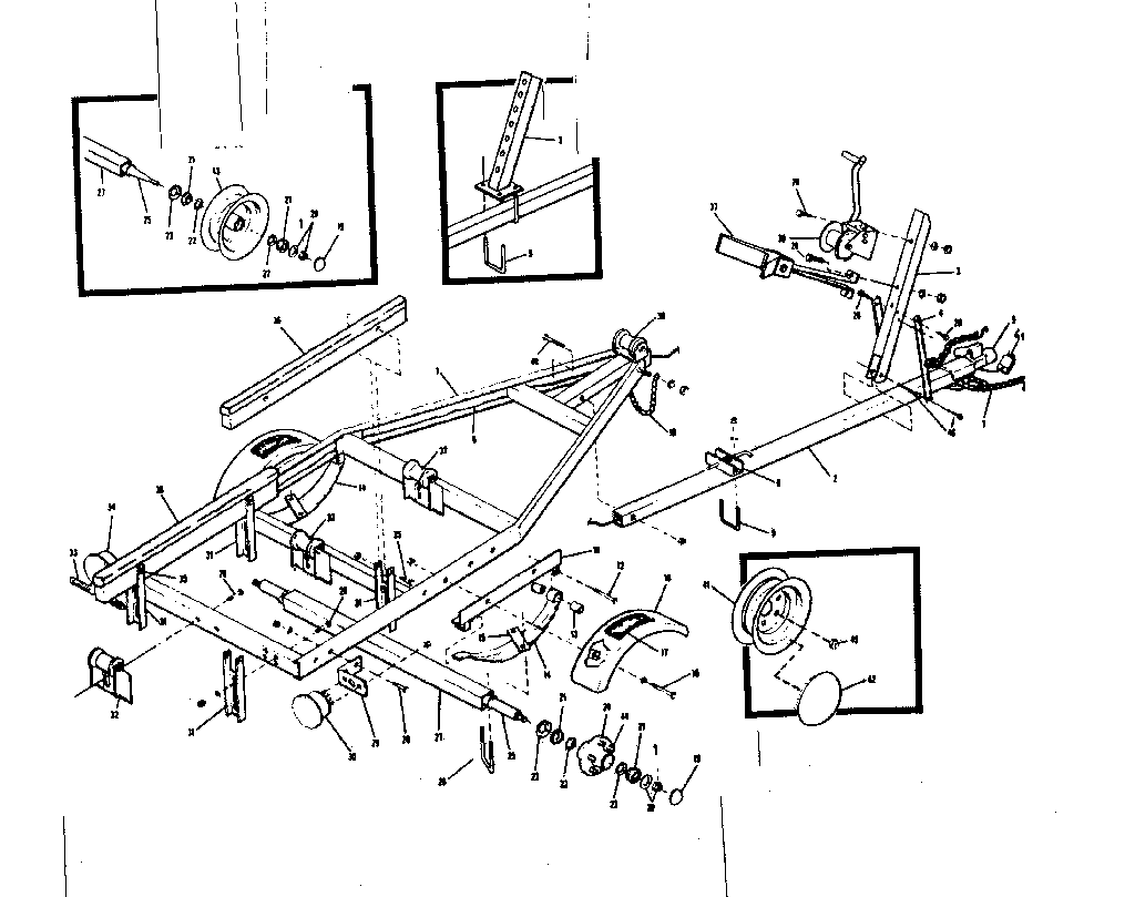 hight resolution of sears 371617100 boat trailer diagram