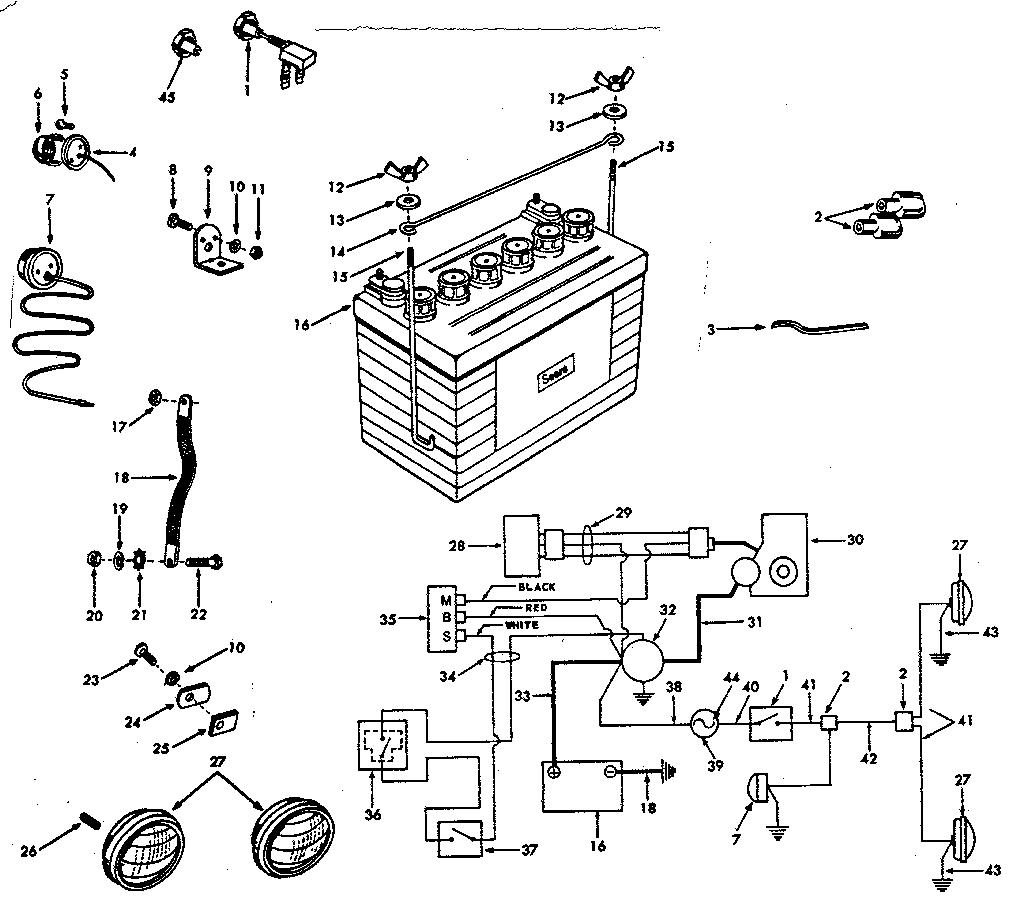 hight resolution of craftsman model 91725061 lawn tractor genuine parts rh searspartsdirect com on sears suburban 12 tractor for sears 10xl wiring wiring diagrams