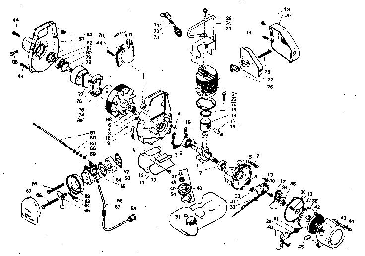 Craftsman Weedwacker 358 795571 Parts. Craftsman. Tractor