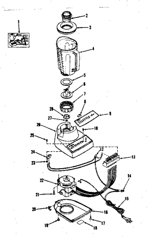KENMORE SEARS BLENDER Parts | Model 400839500 | Sears
