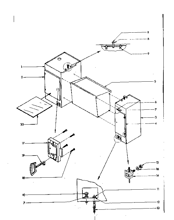 MACHINE STAND ASSEMBLY Diagram & Parts List for Model 2894