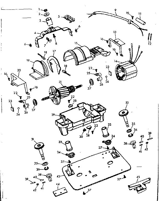 INTERNAL MACHINE PARTS Diagram & Parts List for Model