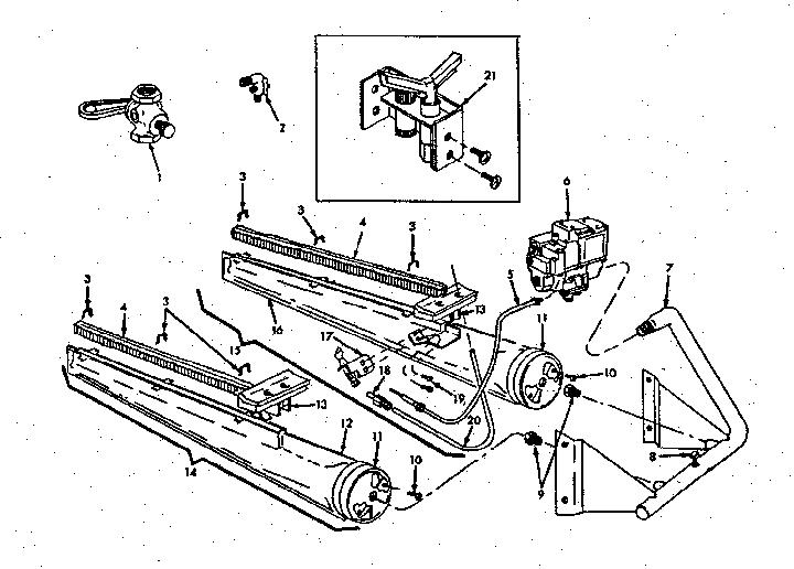ICP Heil Gas Furnaces Burner & manifold assembl Parts