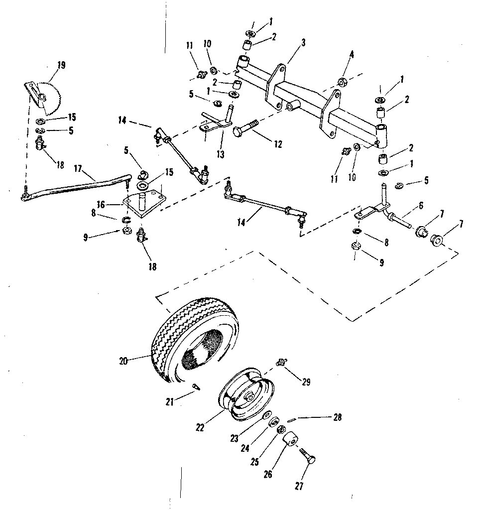 CRAFTSMAN Sears 15 Hp Suburban Tractor Wiring diagram