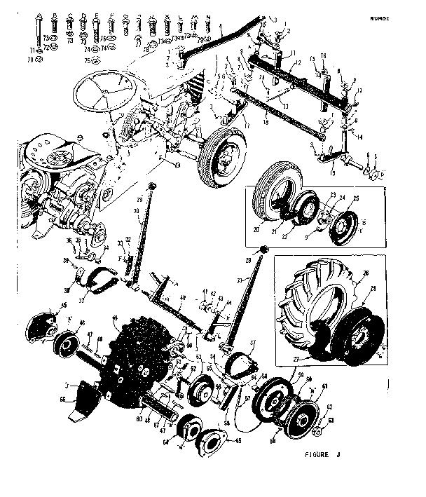 CRAFTSMAN DAVID BRADLEY SUBURBAN RIDING TRACTOR Parts