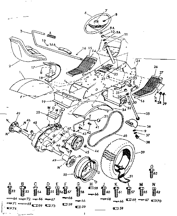 DRIVE ASSEMBLY Diagram & Parts List for Model 91725620