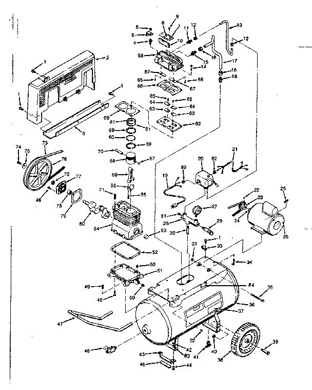 husky air pressor wiring diagram