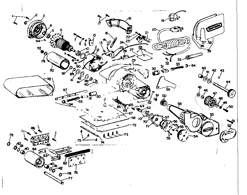 CRAFTSMAN CRAFTSMAN 4-INCH DUSTLESS BELT SANDER Parts