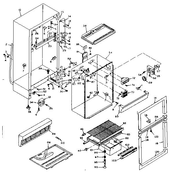KENMORE COLDSPOT REFRIGERATORS (12.3 CUBIC FEET) Parts