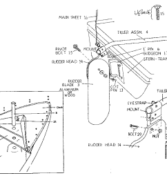 sears 342600163 rudder assembly diagram [ 1024 x 811 Pixel ]