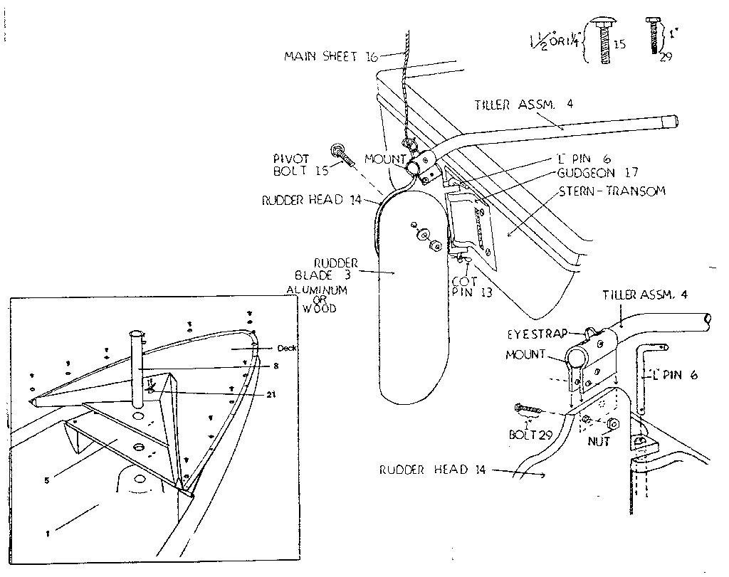 hight resolution of sears 342600163 rudder assembly diagram